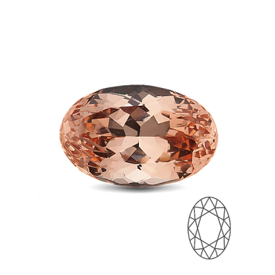 Morganit 8×6 Oval cut