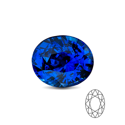 Safir 7×5 Oval cut